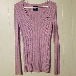 AE American Eagle Lavender v-neck Sweater